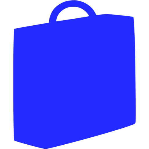 briefcase 03 blue - image, pic, icon, png