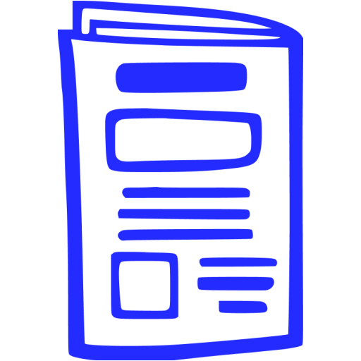 newspaper 010 blue - image, pic, icon, png