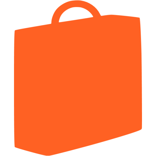 briefcase 03 orange - image, pic, icon, png