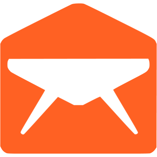 email 010 orange - image, pic, icon, png