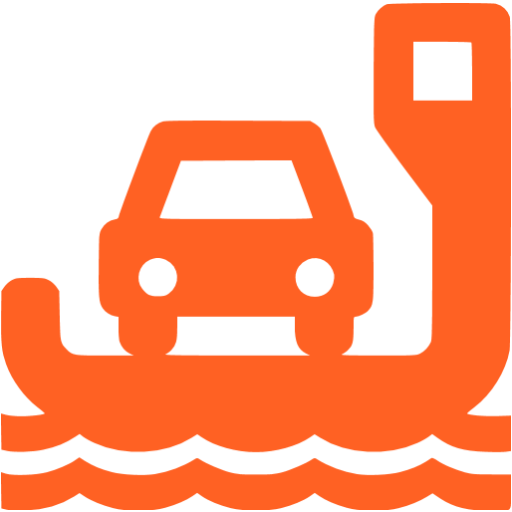 ferry orange - image, pic, icon, png
