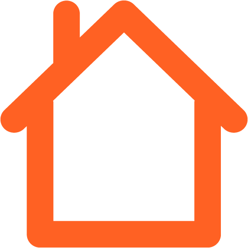 home 02 orange - image, pic, icon, png