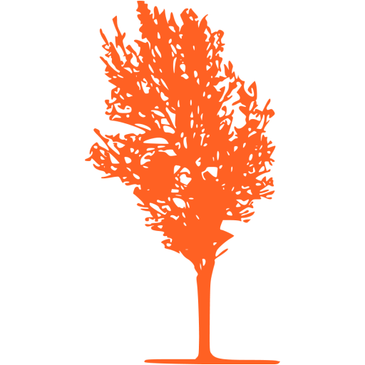 tree 080 orange - image, pic, icon, png