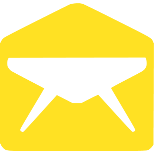 email 010 yellow - image, pic, icon, png