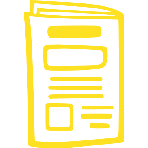 newspaper 010 yellow - image, pic, icon, png