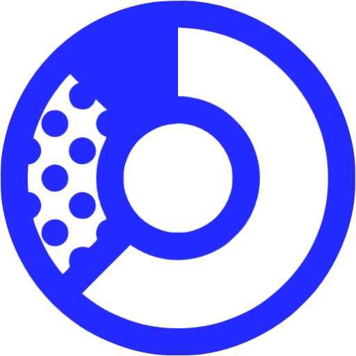 donat chart blue - image, pic, icon, png