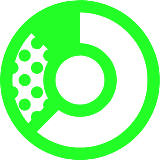 donat chart green - image, pic, icon, png