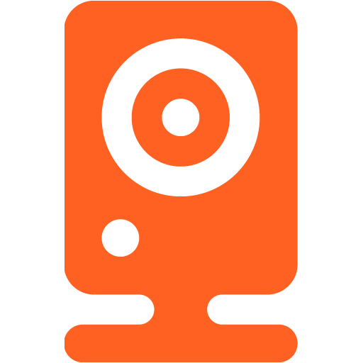 webcam 06 orange - image, pic, icon, png