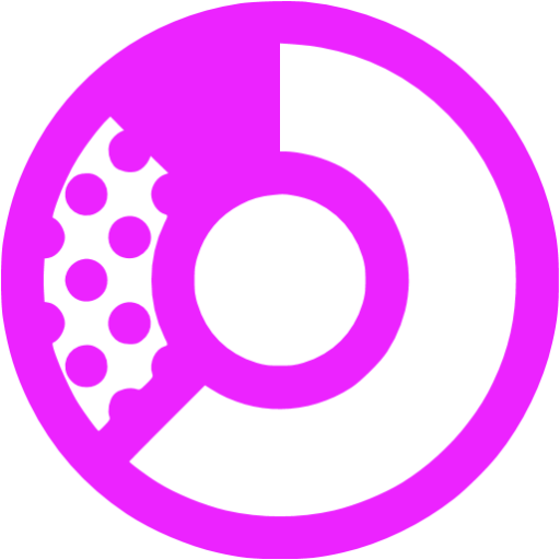 donat chart purple - image, pic, icon, png