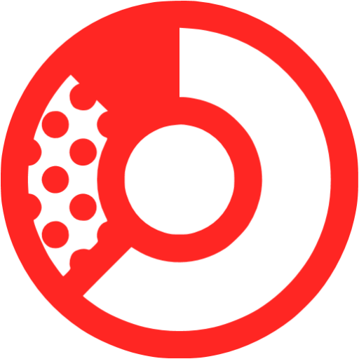 donat chart red - image, pic, icon, png